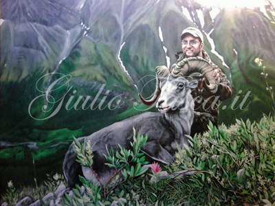 Jim Grand Slam Ram British Columbia 50x40 - Anno 2012 - Private collection
